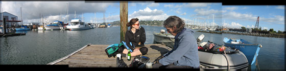 lunch at the marina in sausalito